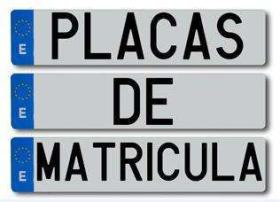Placas de Chapa  Matriculas
